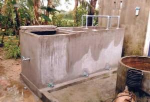 Mô hình bể lọc xử lý nước giếng khoan.