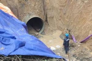 Đường ống vỡ, nước không còn đảm bảo chất lượng