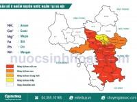 Bản đồ chất lượng nước ngầm tại Hà nội mới nhất