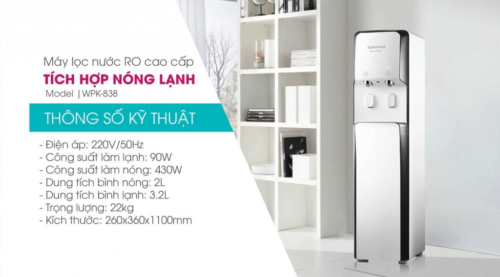 máy lọc nước Ro cao cấp Korihome WPK 838