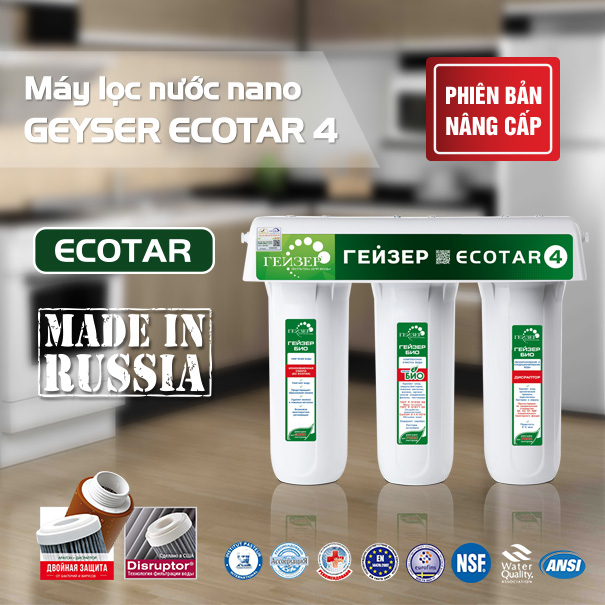 Chân dung máy lọc nước Geyser Ecotar chính hãng