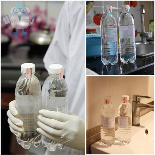 Phòng chuyên gia nước Enterbuy thực hiện xét nghiệm chỉ tiêu nước khu vực Hà Đông