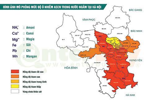 Phòng Chuyên gia nước Enterbuy đã xác lập bản đồ ô nhiễm nguồn nước tại Hà Nội