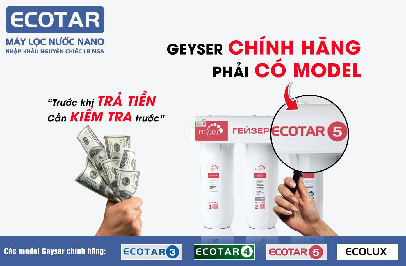 Geyser Ecotar 5 chính hãng