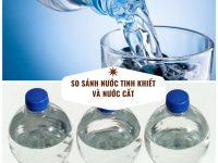 Phân biệt nước cất và nước tinh khiết