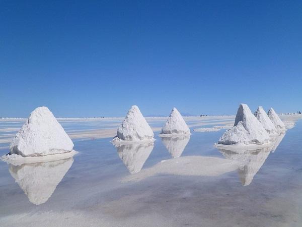 Lượng muối tích tụ ở biển